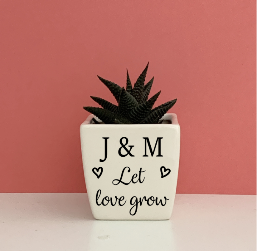 Let Love Grow Planter