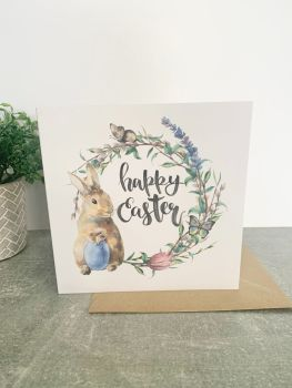 Happy Easter Rabbit Card