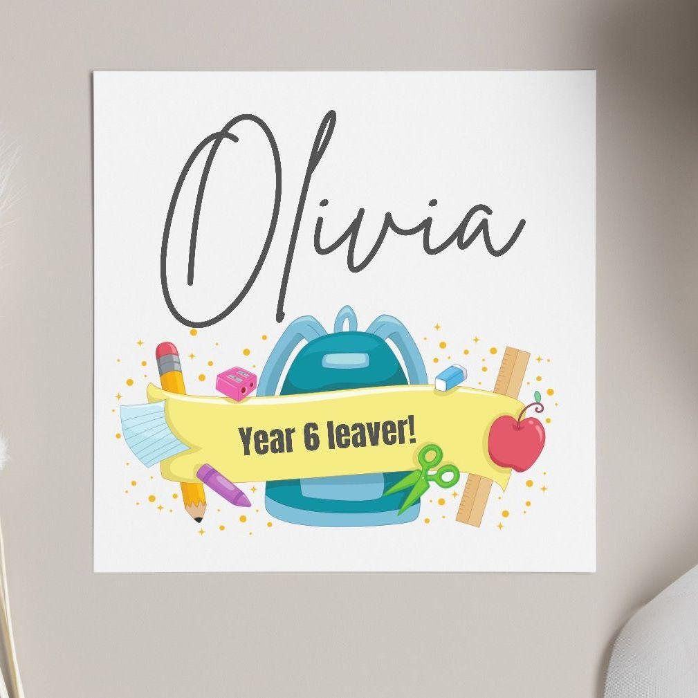 Year 6 Leaver Card