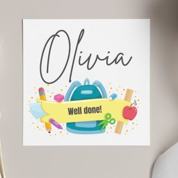 Well Done at School Card