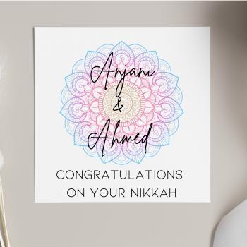 Personalised Nikkah Card