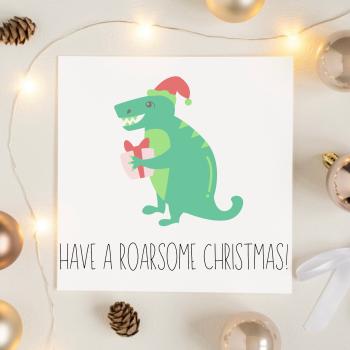 Roarsome Christmas Card