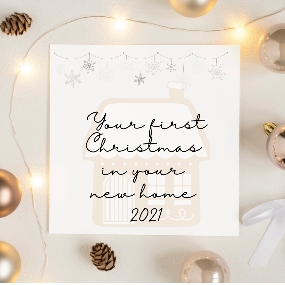 First Christmas in your first home card