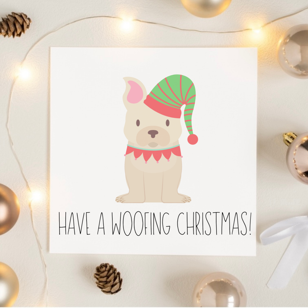 Woofing Christmas Card