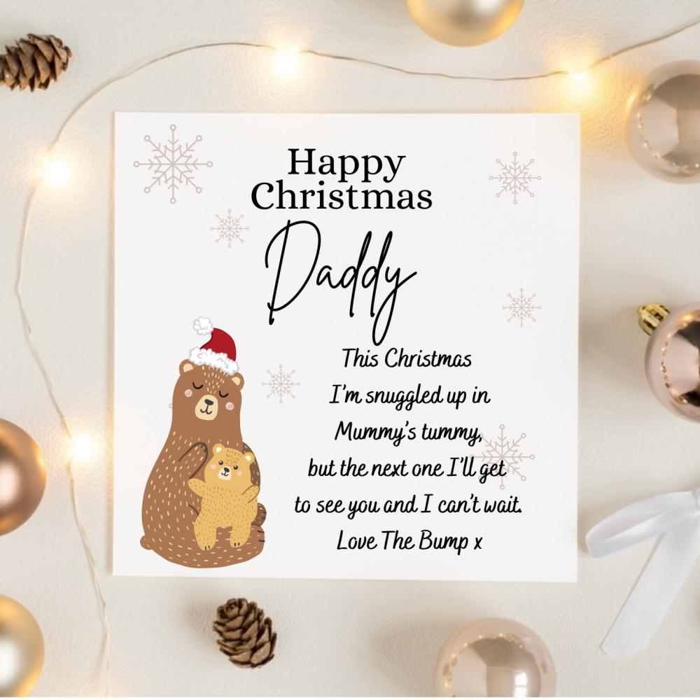 Baby Bump Christmas Card