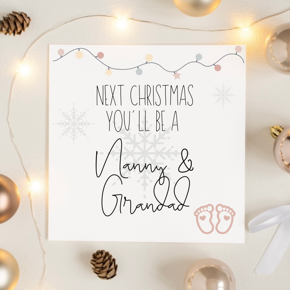 Grandparents to be Christmas Card