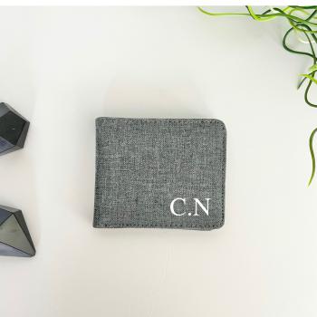 Grey Initial Wallet