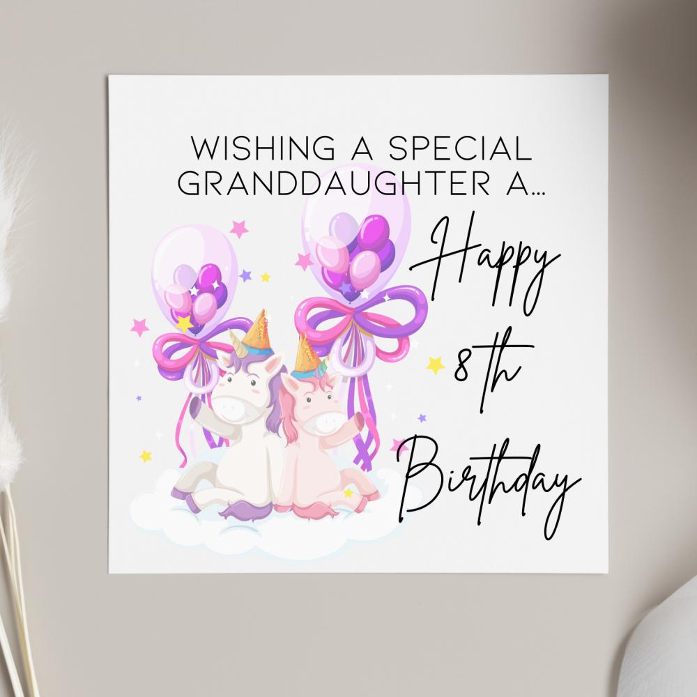 Unicorn Party Birthday Card