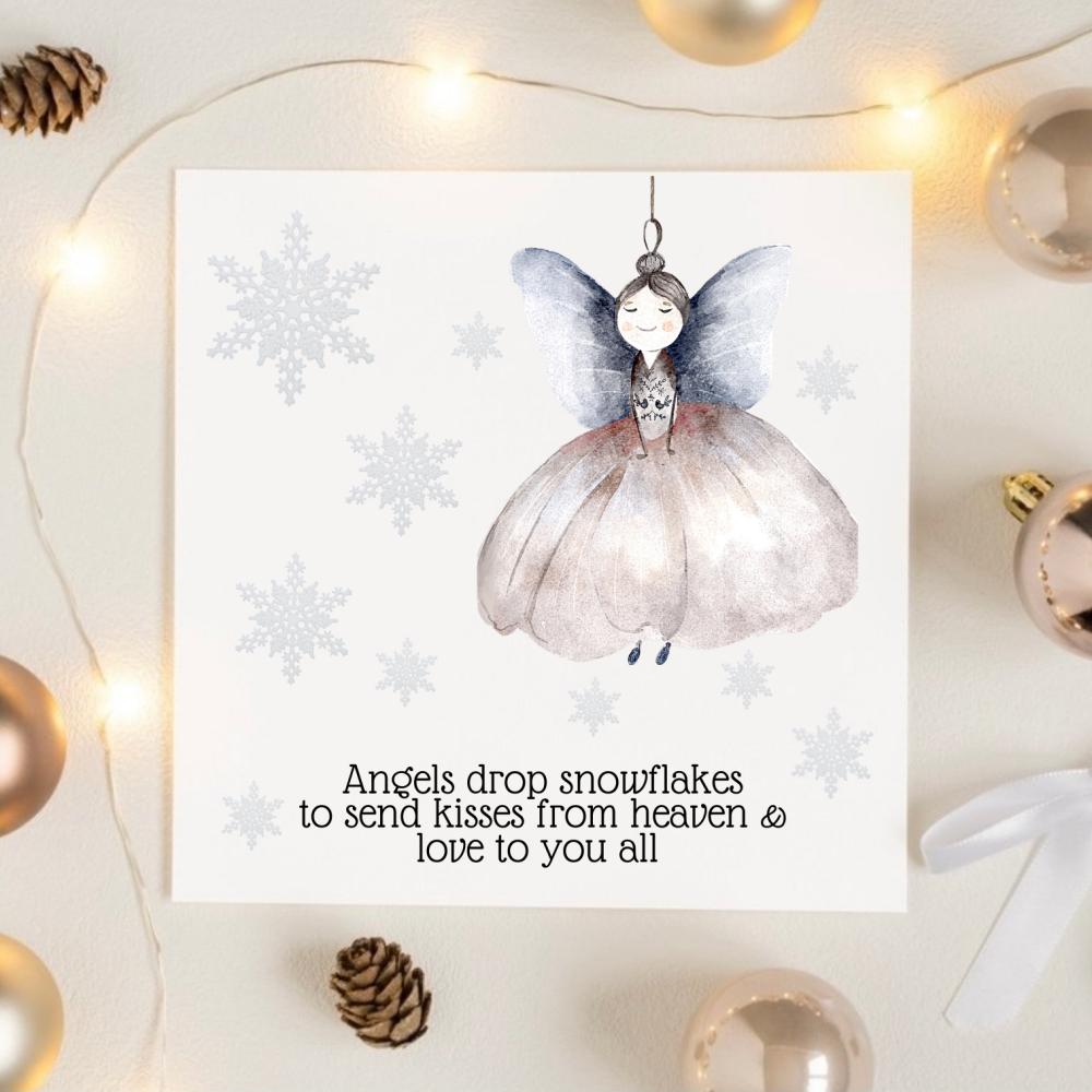Snowflake Angel Christmas Card
