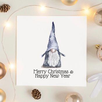 Grey Gonk Christmas Card