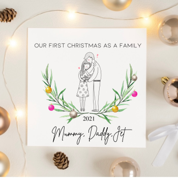 First Christmas As A Family Card