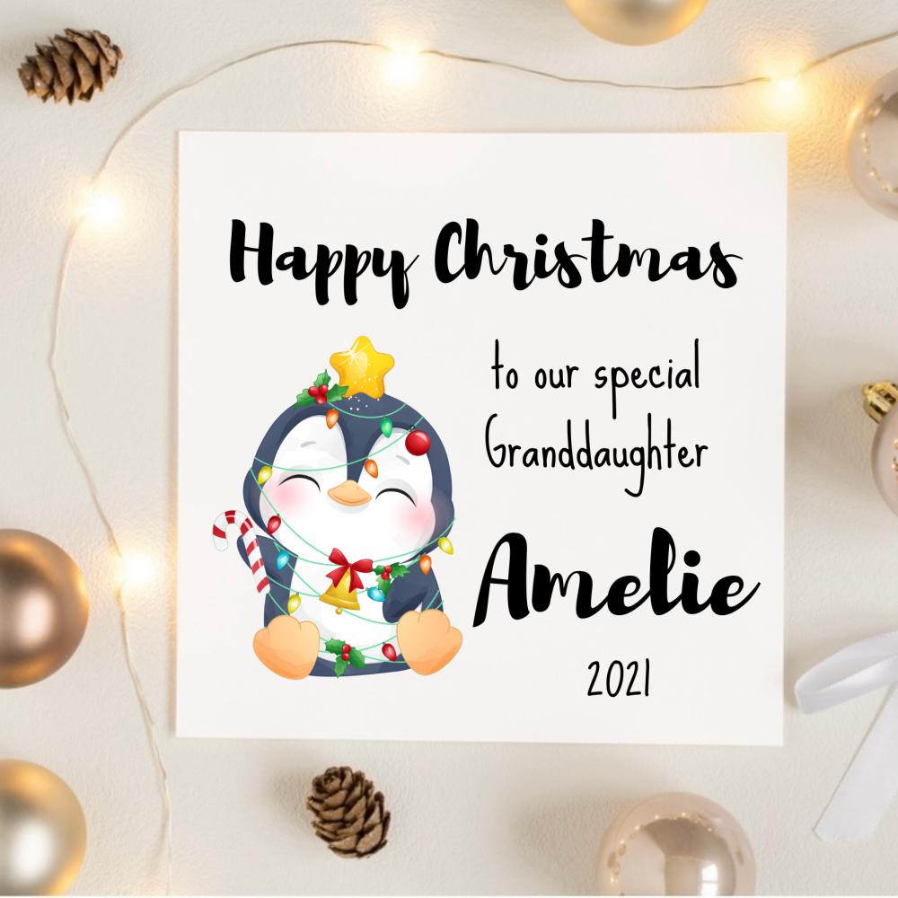 Festive Penguin Christmas Card