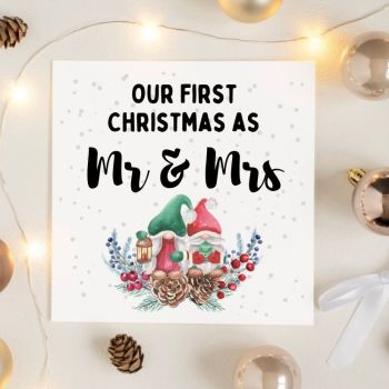 First Christmas Married Gonks Card
