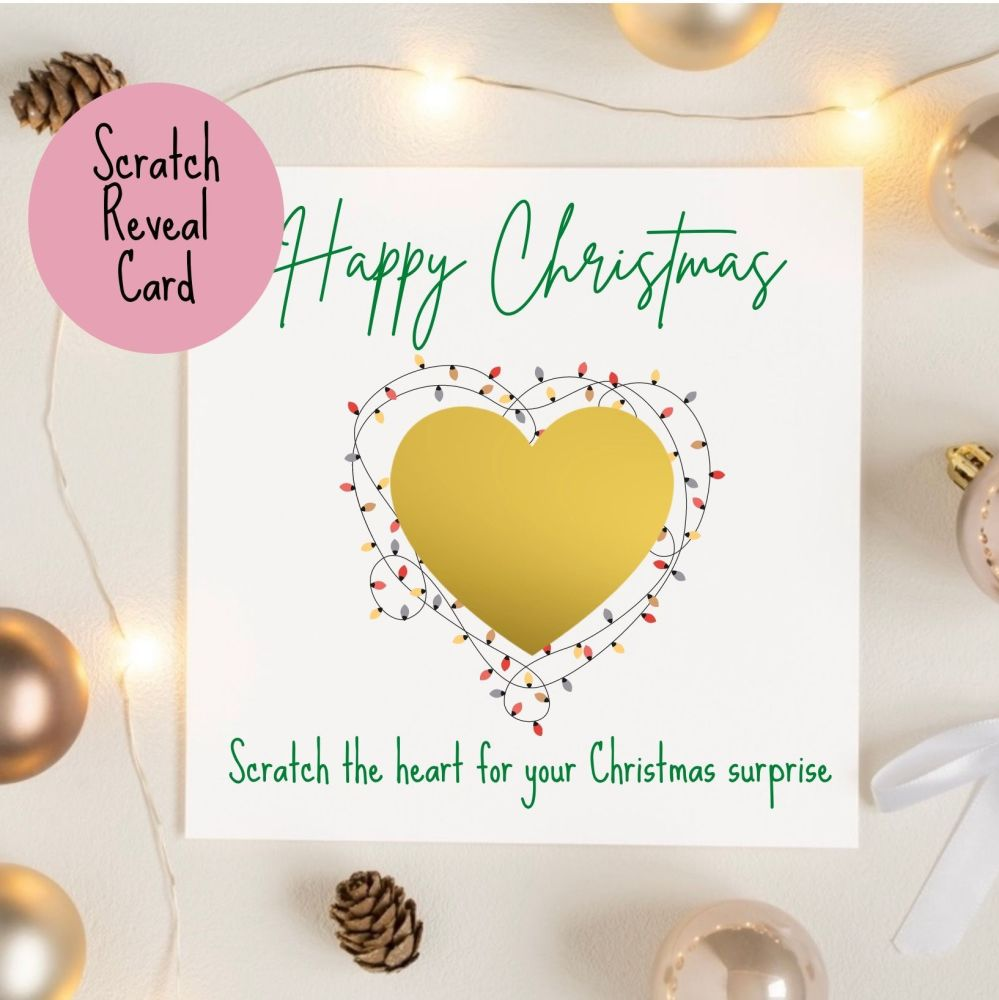 Happy Christmas Scratch Reveal Card