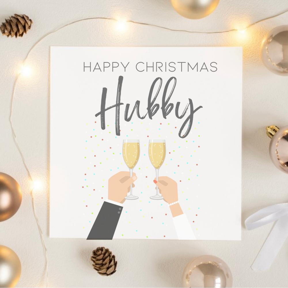 Happy Christmas Hubby Card