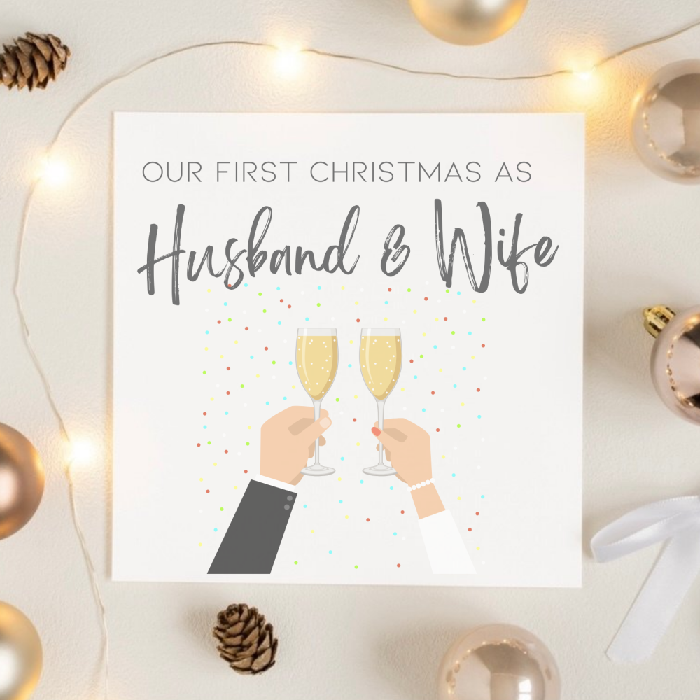 First Christmas As Husband and Wife Card
