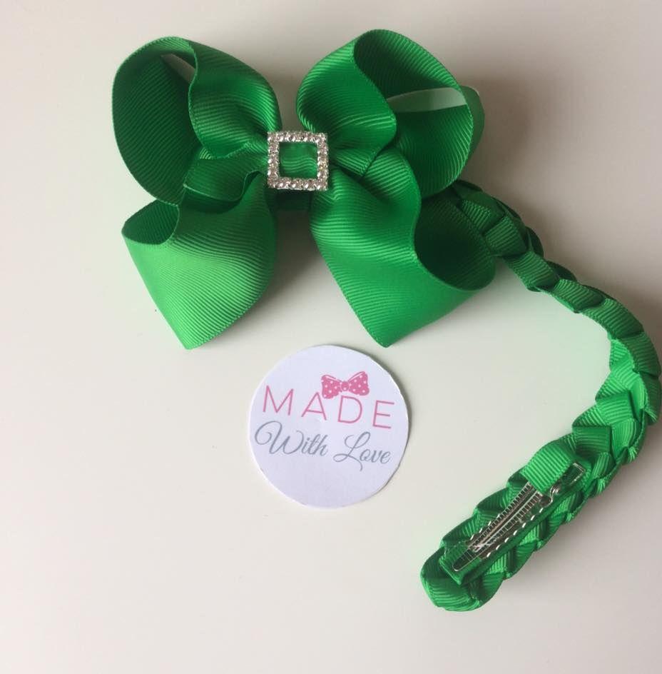 Green Diamanté Bun Wrap