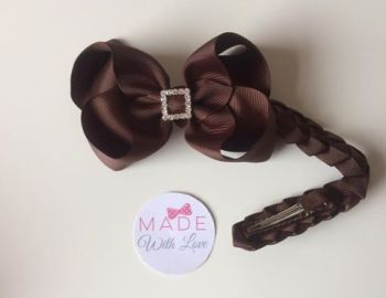 Brown Diamanté Bun Wrap