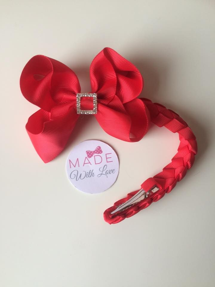 Red Diamanté Bun Wrap
