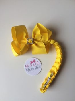 Yellow Diamanté Bun Wrap