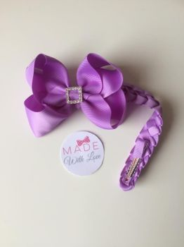 Lilac Diamanté Bun Wrap
