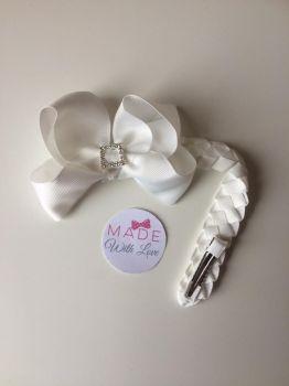 White Diamanté Bun Wrap