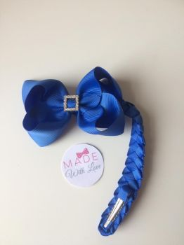 Royal Blue Diamanté Bun Wrap