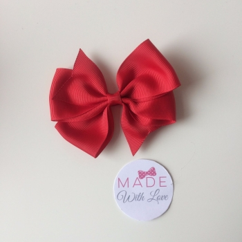 "3.5"" Wendy Bow Clip - Red"