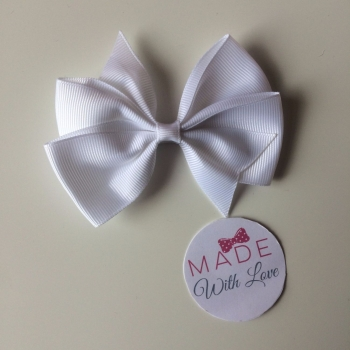 "3.5"" Flat Bow Clip - White"