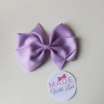 "3.5"" Wendy Bow Clip - Lilac"
