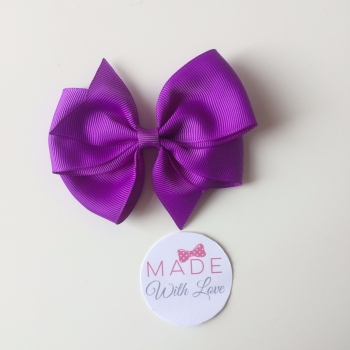"3.5"" Wendy Bow Clip - Purple"