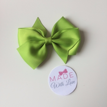 "3.5"" Flat Bow Clip - Apple Green"