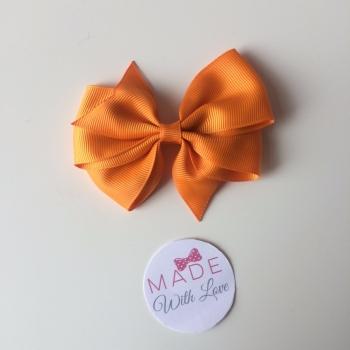 """3.5"""" Wendy Bow Clip - Orange"""
