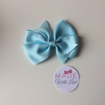 "3.5"" Wendy Bow Clip - Light Blue"