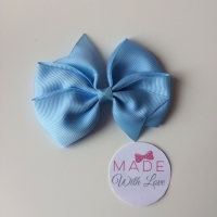 """3.5"""" Flat Bow Clip - Baby Blue"""