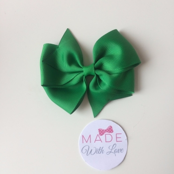 "3.5"" Wendy Bow Clip - Green"