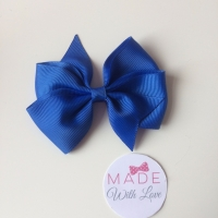 "3.5"" Wendy Bow Clip - Royal Blue"