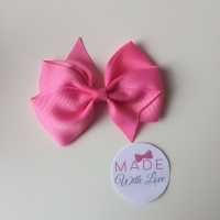 "3.5"" Flat Bow Clip - Pink"