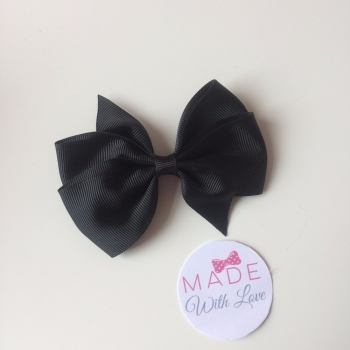"3.5"" Wendy Bow Clip - Black"