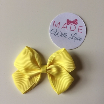 "2.5"" Bow Clip - Yellow"
