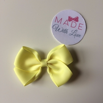 "2.5"" Bow Clips - Lemon"