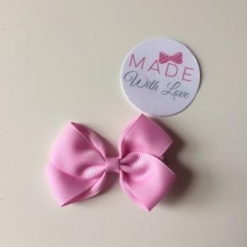"2.5"" Bow Clip - Rose Pink"