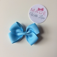 "2.5"" Bow Clip - Baby Blue"