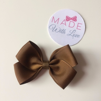 "2.5"" Bow Clip - Brown"