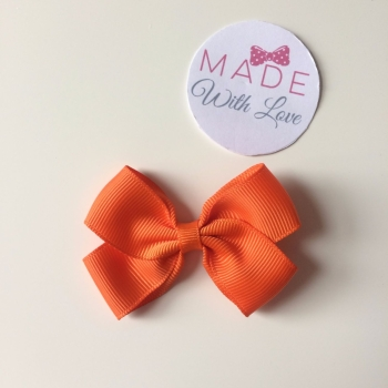 "2.5"" Bow Clip - Orange"