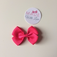 "2.5"" Bow Clip -Shocking Pink"