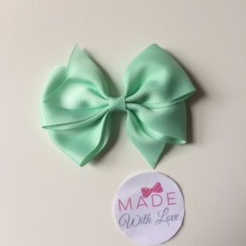 "3.5"" Wendy Bow Clip - Mint"