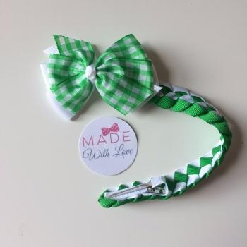 Checked Bun Wrap - Green