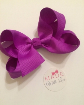 "5.5"" Bow Clip - Purple"