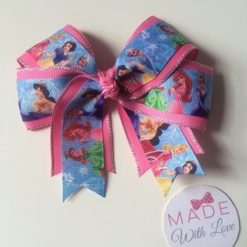 "4.5"" Double Loop Clip - All Princesses"